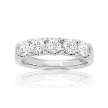 Roman & Jules 14k White Gold Round Cut Diamond Wedding Band - ur1908-3