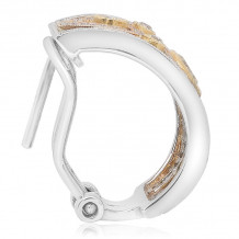 Roman & Jules Three Tone 18k Gold Hoops - KE2487WRY-18K