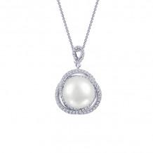 Lafonn Classic Platinum Pearl Necklace - P0177PLP18
