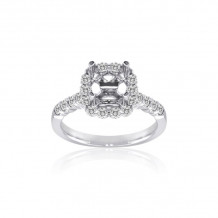 Roman & Jules 14k White Gold Straight Engagement Ring - KR1681W