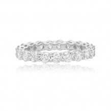 Roman & Jules 14k White Gold Shared Prong Diamond Wedding Band - kr5731-a
