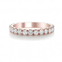 Roman & Jules 14k Rose Gold Diamond Eternity Wedding Band - tr833r-wb-e-b