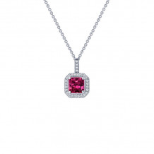 Lafonn Classic Platinum Gemstone Necklace - P0017CRP18