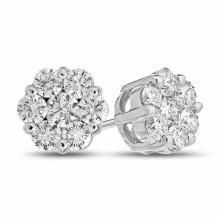 Louis Creations 14k White Gold Stud Earrings - ERL1188K-100