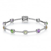 Lafonn Aria Sterling Silver Gemstone Bracelet