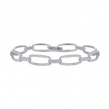 Lafonn Classic Sterling Silver Simulated Diamond Bracelet