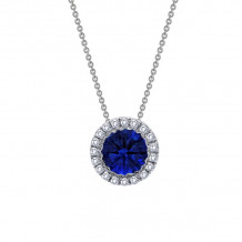 Lafonn Classic Platinum Gemstone Necklace - N2005CSP18
