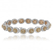 Romans & Jules Two Tone 18k Gold Diamond Bracelet - KB5661-1
