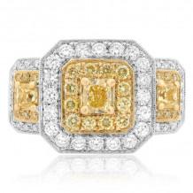 Roman & Jules Two Tone 18k Gold Diamond Ring - 1039-2