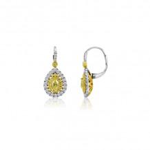 Roman & Jules Two Tone 18k Gold Drop Earrings - KE4039WY-18K-6