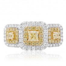 Roman & Jules Two Tone 18k Gold Diamond Ring - FR260WY-18K