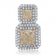 Roman & Jules Two Tone 18k Gold Drop Earrings - KE5703-1
