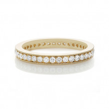 Roman & Jules 14k Yellow Gold Milgrain Diamond Eternity Wedding Band - ur1514y-wb