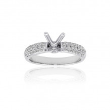 Roman & Jules 14k White Gold Straight Engagement Ring - KR2507W