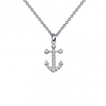 Lafonn Rhonda Faber Green Sterling Silver Simulated Diamond Necklace