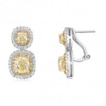 Roman & Jules Two Tone 18k Gold Drop Earrings - KE3679WY-18K