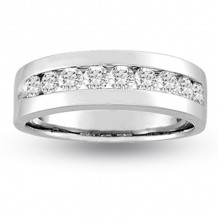Louis Creations 14k White Gold Diamond Wedding Band - CR376-075