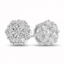 Louis Creations 14k White Gold Stud Earrings - ERL1188A-050