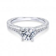 Gabriel & Co 14k White Gold Elsie Diamond Engagement Ring