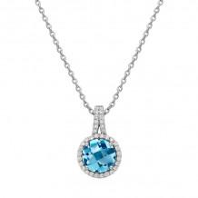 Lafonn Aria Platinum Gemstone Necklace - GP004BTP18