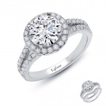 Lafonn Classic Platinum Diamond Ring - R2019CLP07