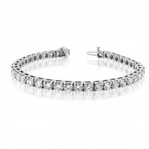 Louis Creations 14k White Gold Diamond Bracelet - BB4-200