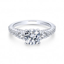 Gabriel & Co 14k White Gold Brier Diamond Engagement Ring