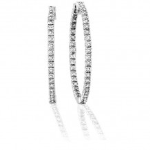Louis Creations 14k White Gold Hoop Earrings - ERL1071