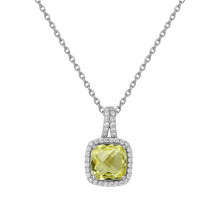 Lafonn Aria Platinum Gemstone Necklace - GP003LMP18
