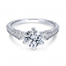 Gabriel & Co 14k White Gold Ava Diamond Engagement Ring