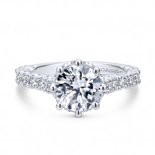 Gabriel & Co 14k White Gold Augusta Diamond Engagement Ring
