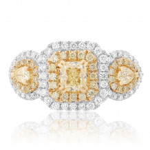 Roman & Jules Two Tone 18k Gold Diamond Ring - FR265-18K-4