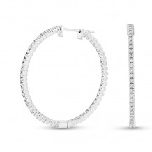 Louis Creations 14k White Gold Hoop Earrings - ERL1070