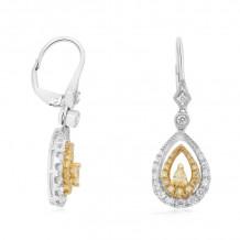 Roman & Jules Two Tone 18k Gold Drop Earrings - 1023-1