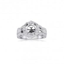 Roman & Jules 14k White Gold Halo Engagement Ring - 1114-1