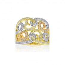 Roman & Jules Three Tone 14k Gold Diamond Ring - KR2503YWR