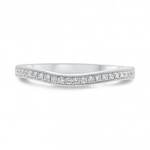 Roman & Jules 14k White Gold Curved Wedding Band - KR1265W-WB